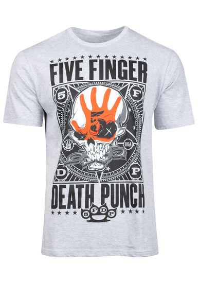 Men's Five Finger Death Punch Tee, HEATHER GREY, hi-res