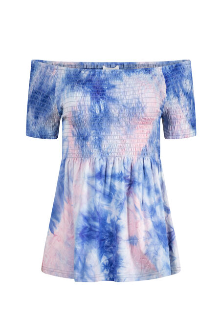 Women's Tie-Dye Bardot Top