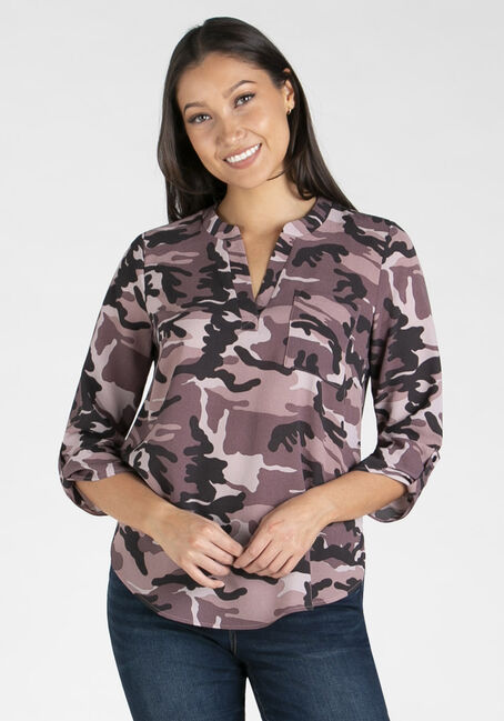 Women's Tunic Henley Blouse