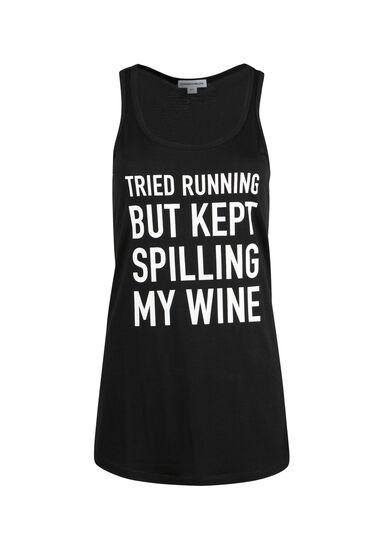 Ladies' Tried Running Racerback Tank, BLACK, hi-res