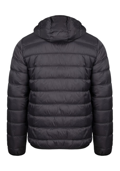 Men's Puffer Jacket, BLACK, hi-res
