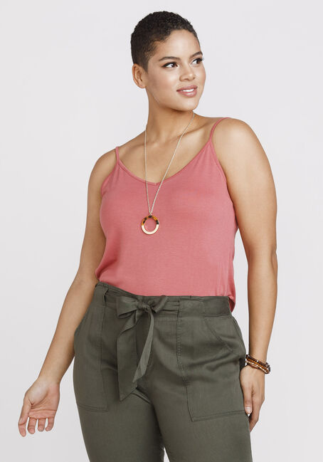 Women's Reversible Relaxed Strappy Tank, BLUSH, hi-res