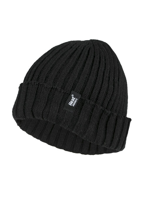 Men's Thermal Cuffed Hat, BLACK, hi-res