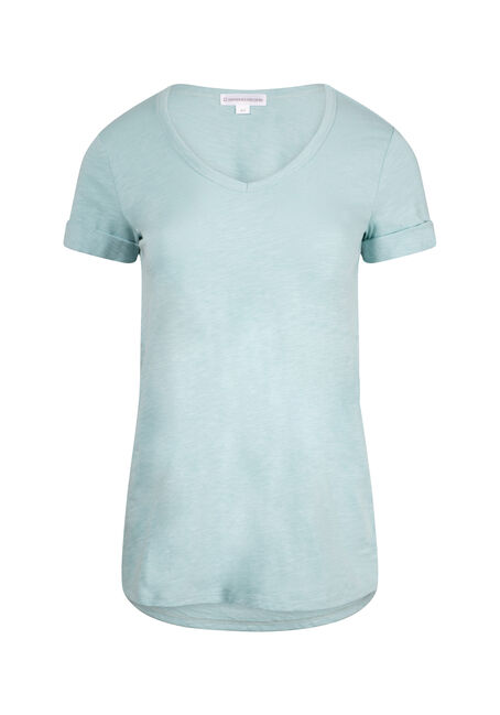 Women's Cuffed V-Neck Tee
