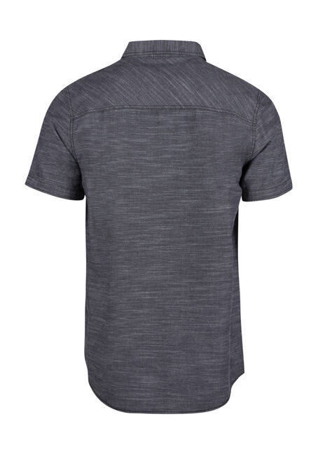 Men's Relaxed Space Dye Shirt, SLATE, hi-res