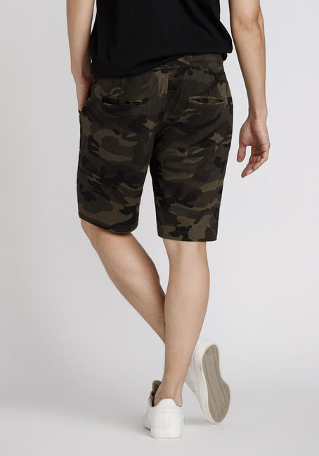 Men's Camo Jogger Short, DARK OLIVE, hi-res