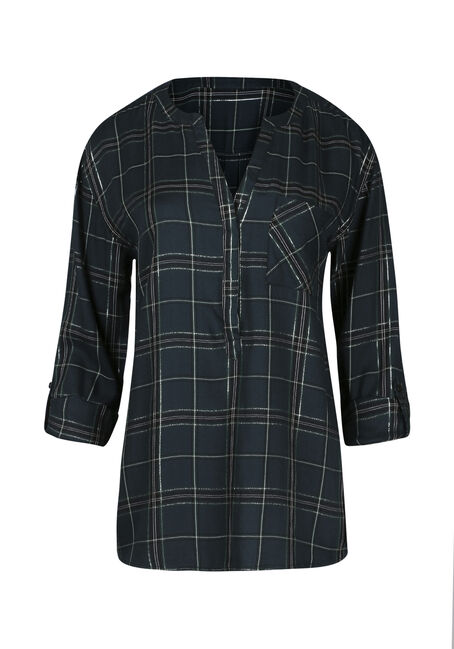 Ladies' Plaid Boyfriend Shirt