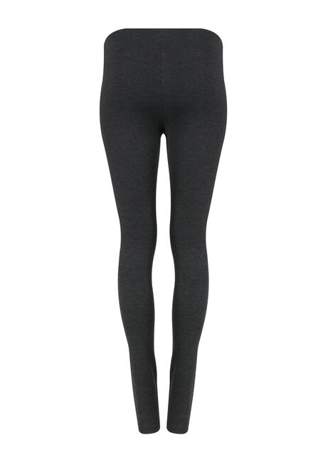 Women's Wide Waistband Legging, CHARCOAL, hi-res