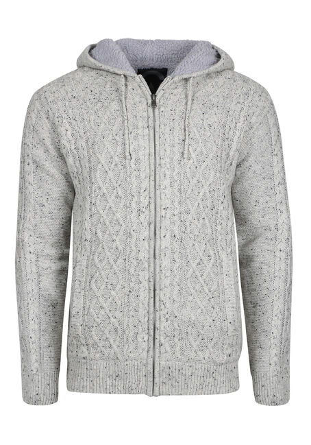Men's Cable Knit Sweater Jacket