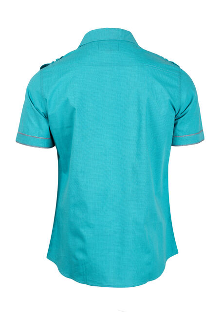 Men's Printed Shirt, AQUA GREEN, hi-res