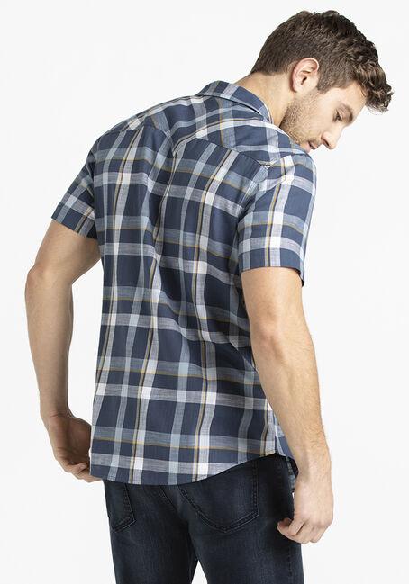 Men's Plaid Shirt, BLUE, hi-res