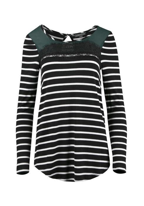 Ladies' Colour Block Stripe Top, JASPER, hi-res