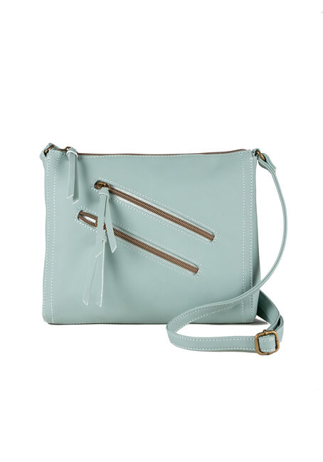 Women's Double Zipper Cross Body Bag