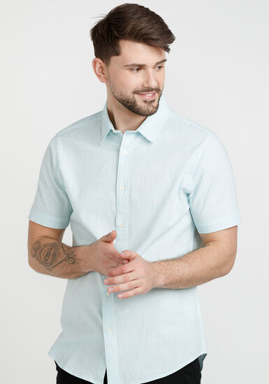 Men's Oxford Shirt, LIGHT BLUE, hi-res