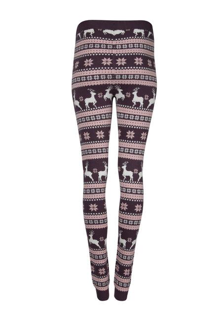 Women's Reindeer Sweater Legging, PASS.PURPLE, hi-res