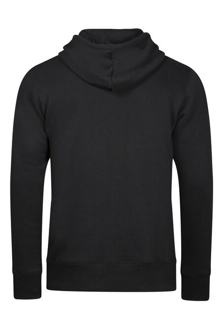 Men's Washed Classic Hoodie, BLACK, hi-res