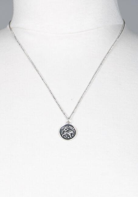 Taurus Pendant Necklace, SILVER, hi-res