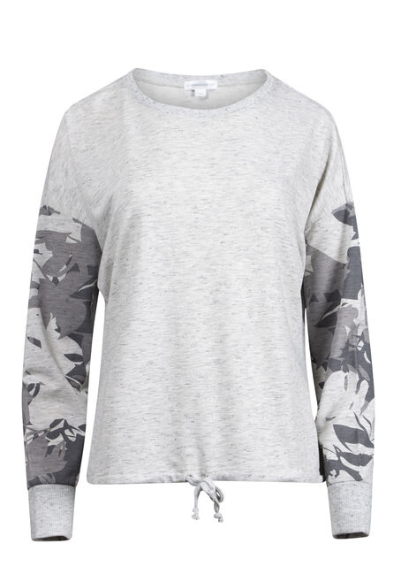 Women's Floral Sleeve Sweatshirt