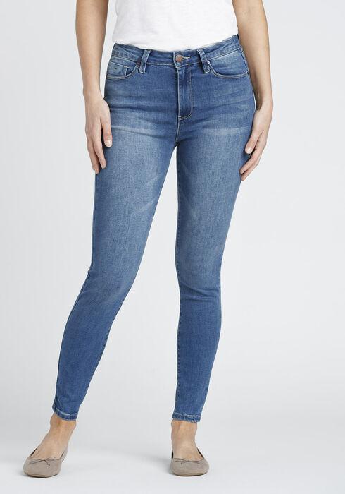 Women's No Muffin Top Skinny Jean, MEDIUM WASH, hi-res