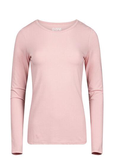 Women's Long Sleeve Tee, DUSTY PINK, hi-res
