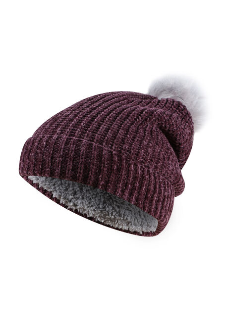 Ladies' Chenille Pom Pom Hat