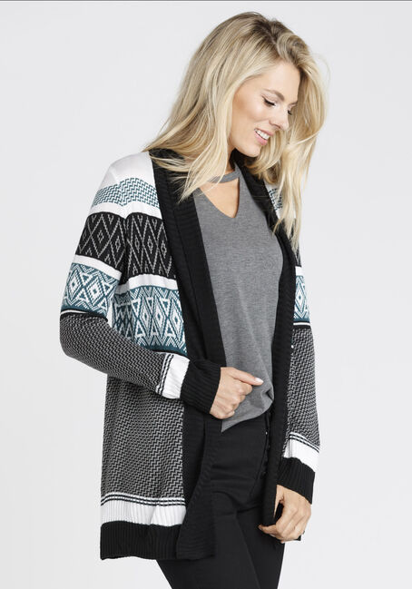 Ladies' Diamond Shawl Cardigan, MULTI, hi-res