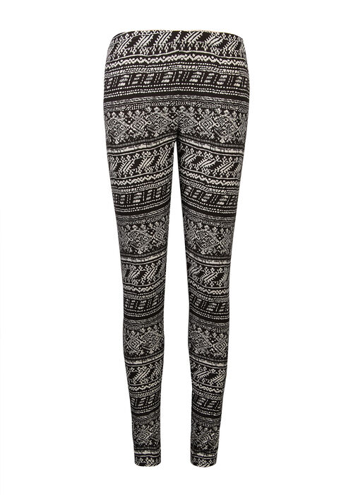 Ladies' Mixed Print Legging, BLK/SAND, hi-res