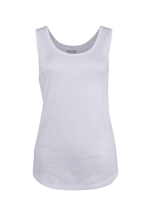 Ladies' Shimmer Tank, WHITE, hi-res