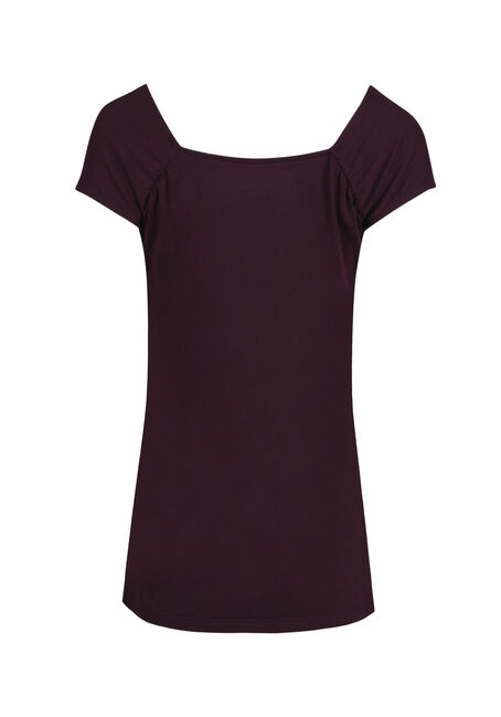 Women's Ruched V-neck Tee, DEEP ORCHID, hi-res