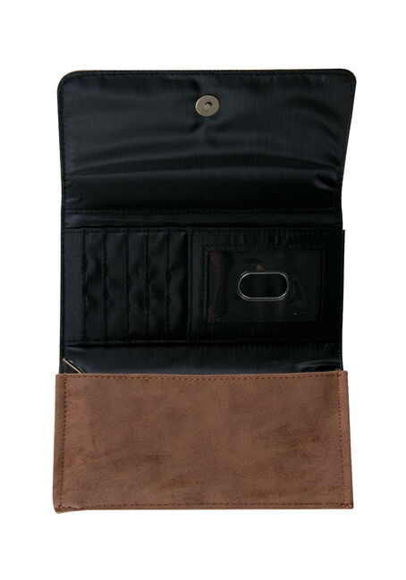 Ladies' Arrow Wallet, LIGHT BROWN, hi-res