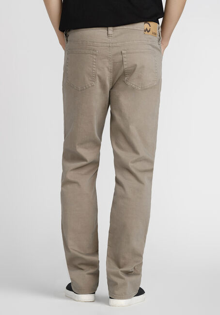Men's Slim Straight Khaki Jeans, TAUPE, hi-res