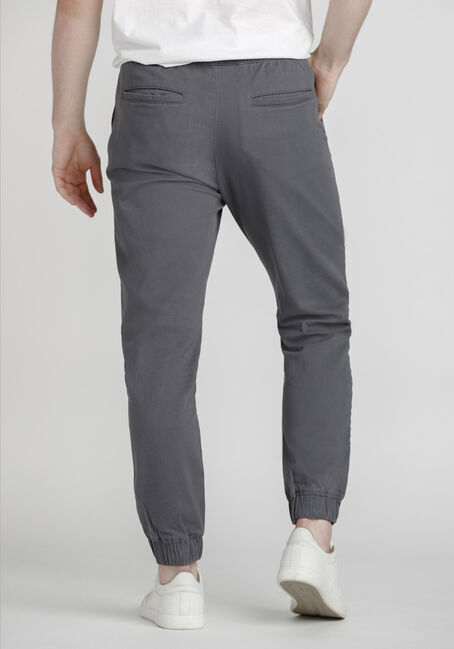 Men's Stretch Twill Moto Jogger, STEEL GREY, hi-res