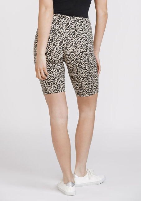 Women's Super Soft Leopard Bike Short, BROWN, hi-res