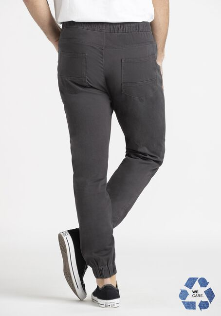 Men's 5 Pocket Dark Grey Twill Jogger, COAL, hi-res