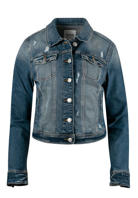 Women's Vintage Distressed Jean Jacket