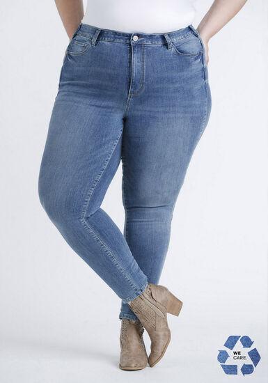 Women's Plus Power Sculpt High Rise Skinny Jeans, MEDIUM WASH, hi-res