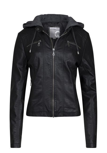 Women's Hooded Moto Jacket