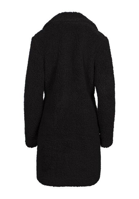 Women's Sherpa Coat, BLACK, hi-res