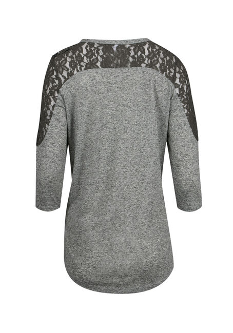 Ladies' Lace Up Tunic Top, MOSS STONE, hi-res