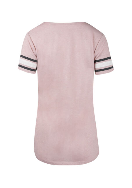 Ladies' Football Tee, ROSEWATER, hi-res
