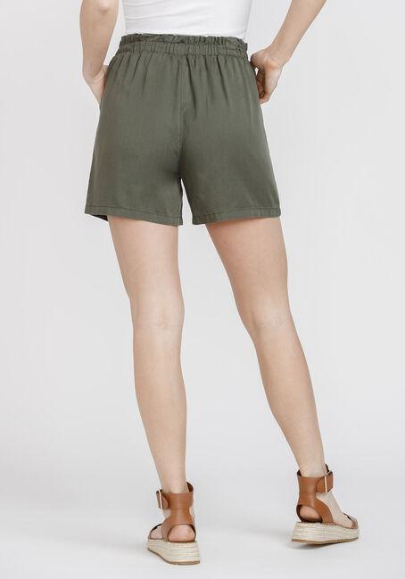 Women's Tie Front Soft Short, DARK OLIVE, hi-res