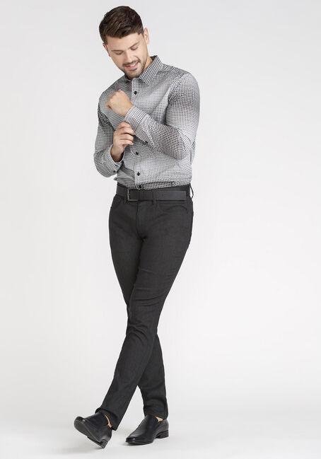 Men's Grid Shirt, BLACK, hi-res