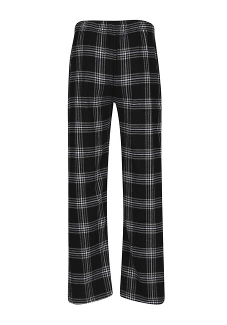 Men's Plaid Lounge Pant, BLK/WHT, hi-res