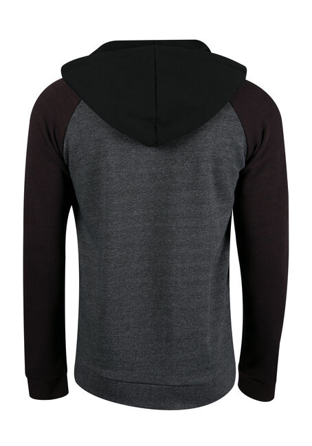 Men's Colour Block Hoodie, RAISIN, hi-res