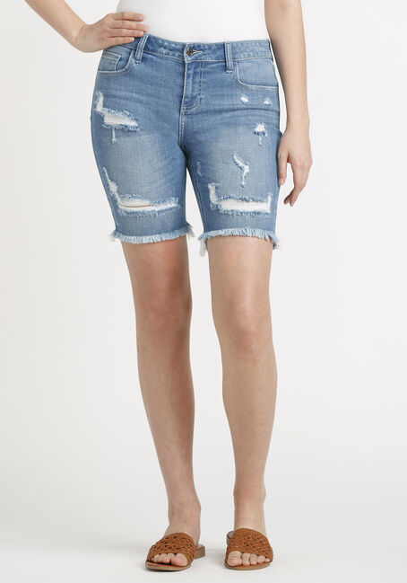 Women's Destroyed Bermuda Short