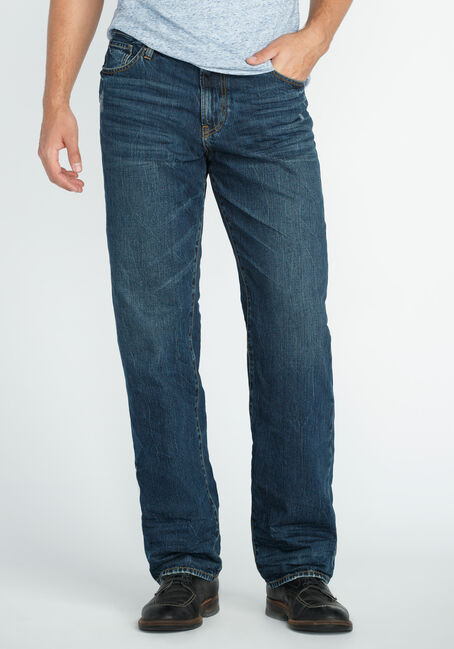 Men's Relaxed Straight Dark Indigo Jeans
