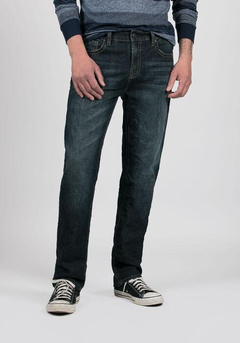 Men's Slim Straight Jeans, DARK VINTAGE WASH, hi-res