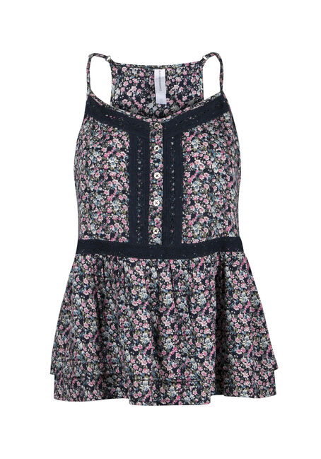 Ladies' Floral Peplum Tank