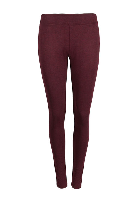 Ladies' Wide Waistband Legging, WINE, hi-res