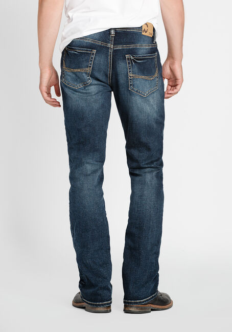 Men's Classic Bootcut Jeans, DARK WASH, hi-res